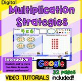 Digital Multiplication Strategies for google classroom - interactive, arrays,