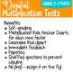 Digital Multiplication Test Forms for Google Classroom 0-10 & 0-12