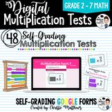 Digital Multiplication Test Forms 0-10 & 0-12 with Cuisena