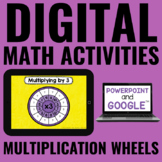 Digital Multiplication Wheels for Math Distance Learning - Google Slides™