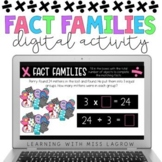 Digital Multiplication and Division Fact Families Activiti
