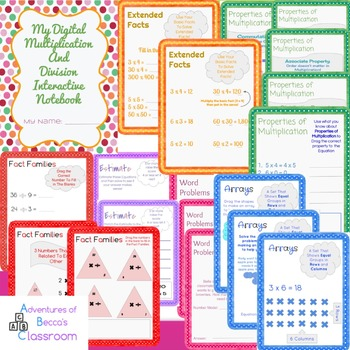 Digital Multiplication and Division Interactive Notebook