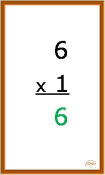 Digital Multiplication eFlashcards, 1-13 ordered then shuffled