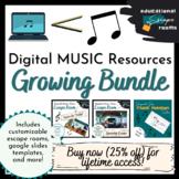 Digital Music Resources & Escape Rooms - Growing Bundle!