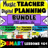 2021-2022 BUNDLE Teacher Planner Digital Teacher Binder Calendar Substitute Plan