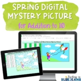 Digital Mystery Picture for Addition to 10 | Spring Additi
