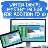 Digital Mystery Picture for Addition to 10 | Winter Additi