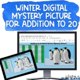 Digital Mystery Picture for Addition to 20 #1 | Winter Add
