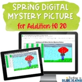 Digital Mystery Picture for Addition to 20 | Spring Additi