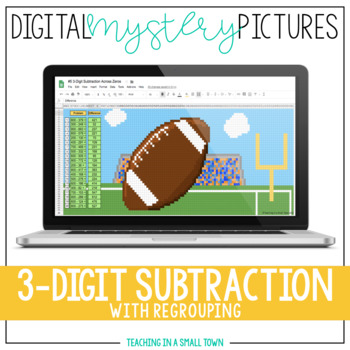 Digital Mystery Pictures // 3-Digit Sub // Google Classroom // Distance Learning