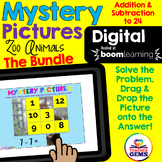Digital Mystery Pictures Addition and Subtraction Bundle