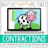 Digital Mystery Pictures // Contractions // Self-Checking