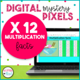 Digital Mystery Pixel Picture Google Classroom Multiplication Facts 12s