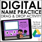 Digital Name Activities   Name Practice   Distance Learning