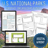 Digital National Park Research Graphic Organizers | 63 Parks Yellowstone & More