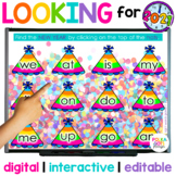 Digital New Years Game for Letters and Sight Words | Dista