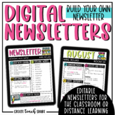 Digital Newsletter | Distance Learning | Use with Google S