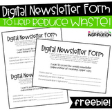 Digital Newsletter Form FREEBIE