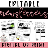Digital Newsletter Templates  - Editable - Monthly & Weekly