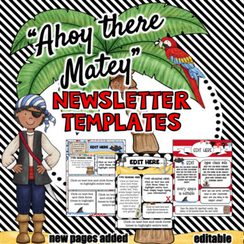 Newsletters Template Pirate Theme ~ Editable