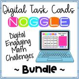 Digital Noggle Task Cards ~ Bundle ~ Math Enrichment Challenges
