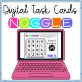 Digital Noggle Task Cards ~ Mind Boggling Math Boggle ~ Ma