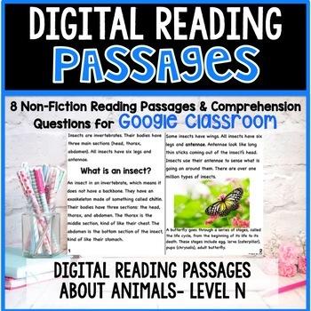 Digital Non-Fiction Animal Articles and Comprehension Checks