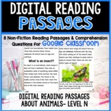 Non-Fiction Animal Articles and Comprehension Checks for Google Classroom