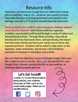 Digital Nonfiction Hyperdoc Activities