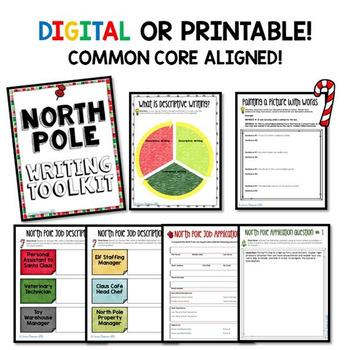 Digital North Pole Job Application Toolkit Common Core Aligned