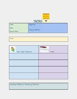 Notetaking Template- Google Classroom Compatible