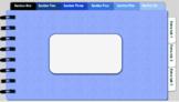 Digital Notebook - Blue theme (editable tabs)