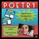 Digital Notebook - ESL Poetry Introduction - Test Prep