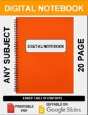Digital Notebook For Any Subject (20 Pages - Google Slides)