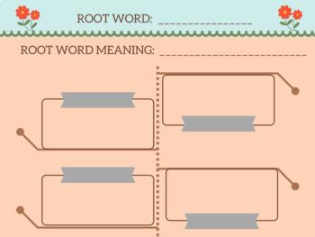 Digital Notebook Graphic Organizer Vocabulary Word Work Activities Any Set