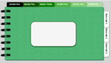 Digital Notebook - Green theme (editable tabs)