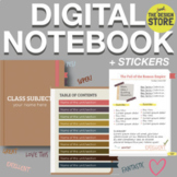 Digital Notebook - Interactive - Earthy Colors + Stickers