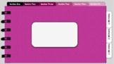 Digital Notebook - Pink theme (editable tabs)