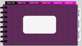 Digital Notebook - Plum/Magenta theme (editable tabs)