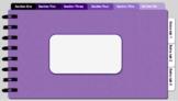 Digital Notebook - Purple theme (editable tabs)