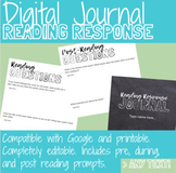 Digital Notebook Reading Response Journal for Any Text