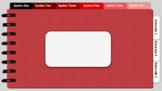 Digital Notebook - Red theme (editable tabs)