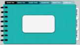 Digital Notebook - Teal theme (editable tabs)