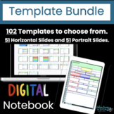 Digital Notebook Template Bundle: Design your own  | dista