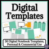 Digital Notebook Templates for Google Drive Paperless Resources