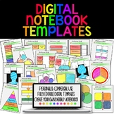 DIGITAL NOTEBOOK TEMPLATES FOR PAPERLESS CLASSROOMS AND GOOGLE DRIVE
