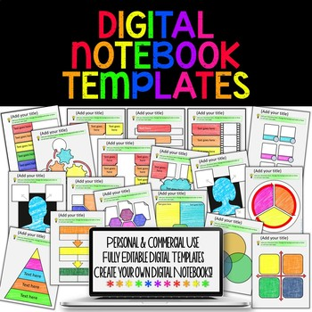 DIGITAL NOTEBOOK TEMPLATES FOR PAPERLESS CLASSROOMS AND GOOGLE DRIVE - Google docs create own templates