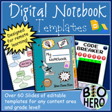 Digital Notebook Templates for Remote Learning