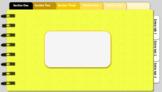 Digital Notebook - Yellow Theme (Editable tabs)