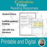 Fictional Reading Responses Interactive Notebook for Google Drive